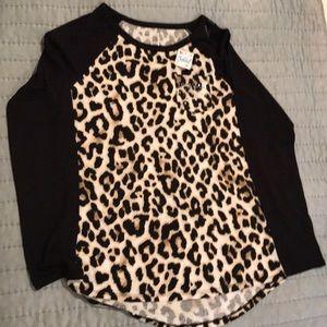 Girls/tween Justice leopard print top.
